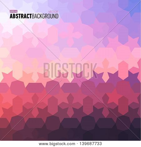 Polygonal abstract pink background for business presentation. Vector illustration.