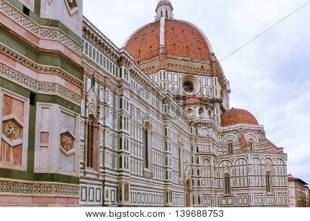 Basilica of Santa Maria del Fiore or Basilica of Saint Mary of the Flower in Florence, Italy
