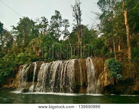 Waterfall in Nation Park that a tourist attraction of Thailand.