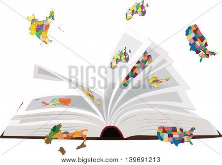 open book for the study of geography