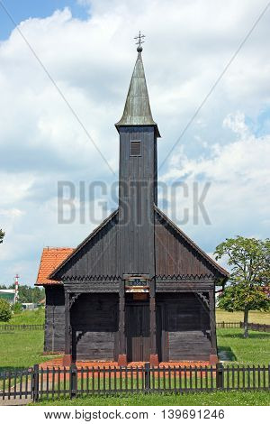 The chapel of Jesus in wounds wooden church near Velika Gorica Croatia