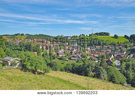 popular Village of Sankt Andreasberg in Harz National Park near Braunlage,Germany