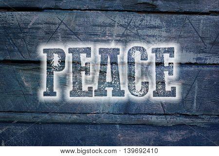Peace text on background concept social idea