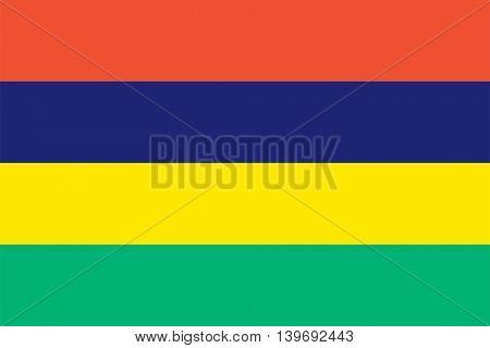 Vector Republic of Mauritius flag