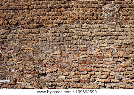 Image of antique wall in Rome, Italy