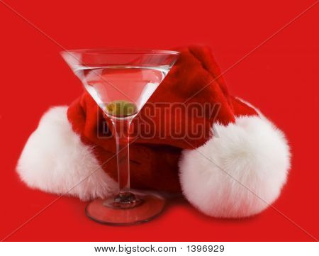 Christmas Hat With Martini