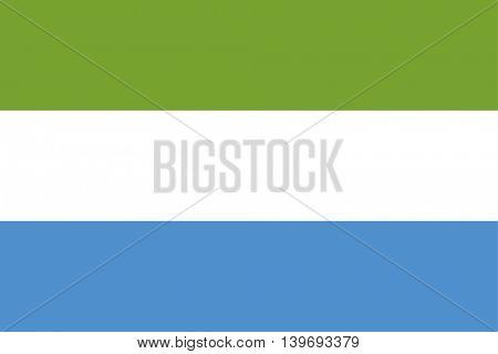 Vector Republic of Sierra Leone flag