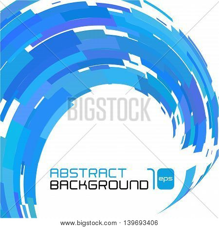 Polygonal abstract blue background for business presentation. Vector illustration.