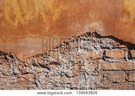 Image of antique wall in Rome, Italy.
