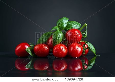 Tomatoes With Green Basil