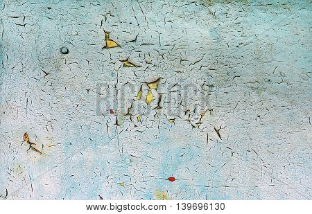Rustic weathered paint on metal background texture
