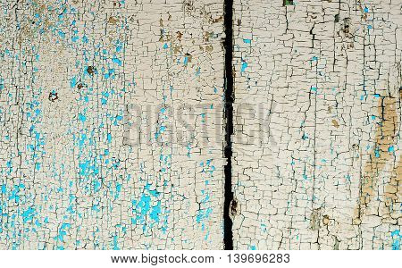 Old wooden planks texture with aging effects and rustic paint