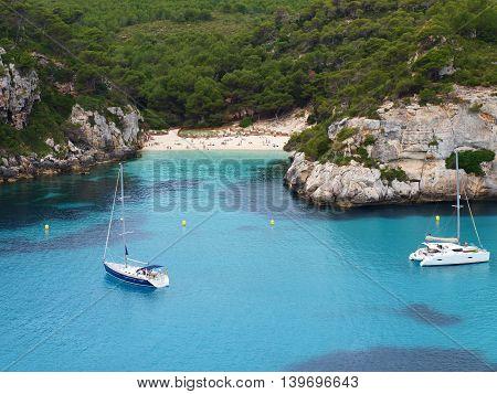 Macarelleta, small beach in Menorca, one of the Balearic Island