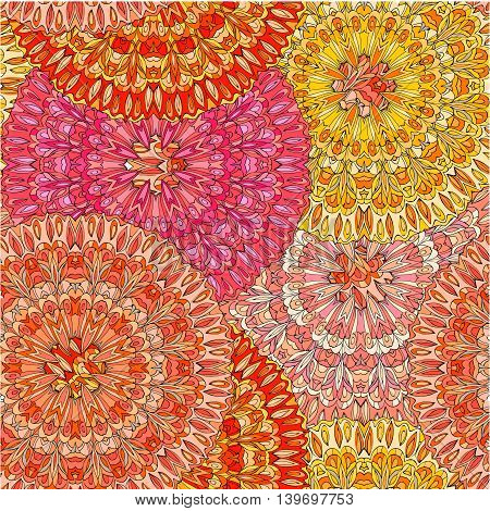 Colorful seamless pattern mandala; can be used for wallpaper; pattern fills; web page background; surface textures. India, Arabic, Islam.
