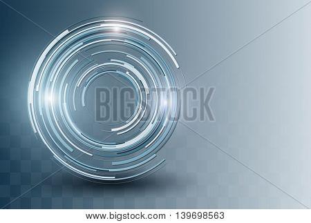 Business background blue, 3D vector illustration.