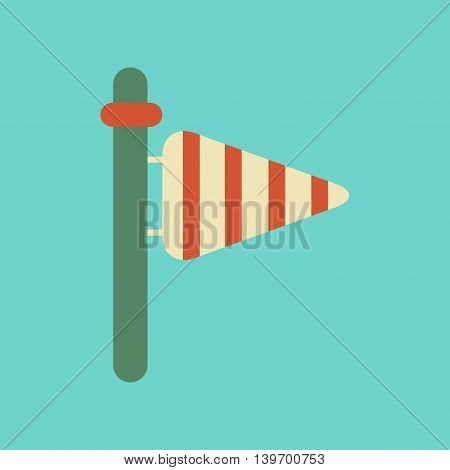flat icon on stylish background nature weather vane