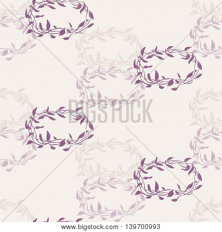 Vector hand drawn vine seamless pattern set. Floral theme for wedding anniversary holiday business birthday invitations. Pastel colored pattern for textile polygraphy web design