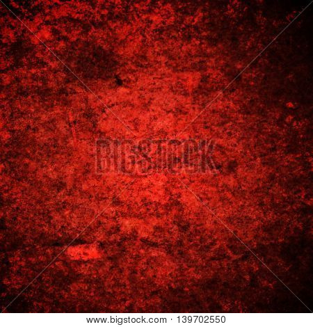abstract colored scratched grunge background - red and black