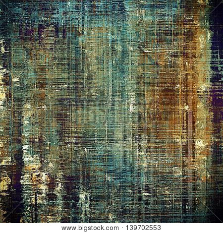 Retro abstract background, vintage grunge texture with different color patterns: yellow (beige); brown; gray; blue; purple (violet); cyan