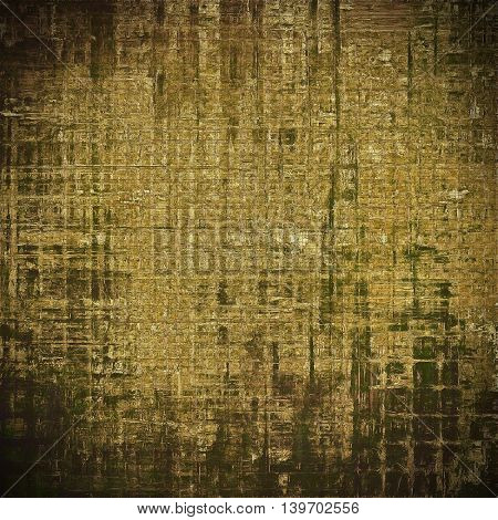 Retro vintage style elements on aged grunge texture. With different color patterns: yellow (beige); brown; gray; black; green