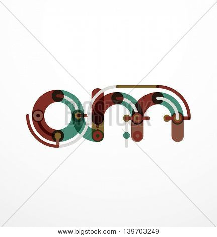 Linear letter. Minimalistic logo thin lines