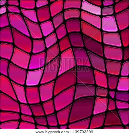 abstract vector stained-glass mosaic background - red and purple