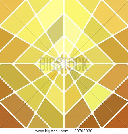 abstract vector stained-glass mosaic background - orange and yellow rhombus