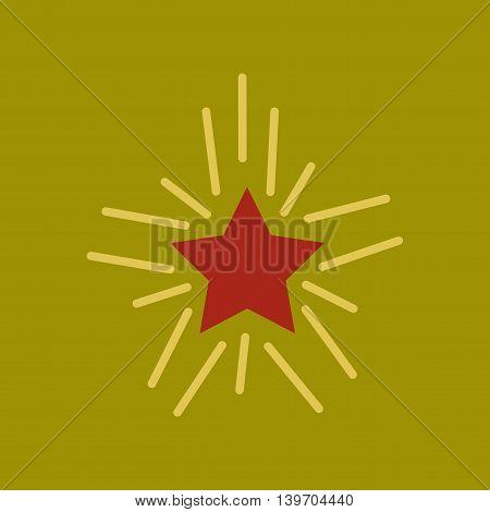 flat icon on stylish background poker star shines