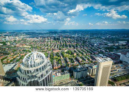 View Of Back Bay, In Boston, Massachusetts.