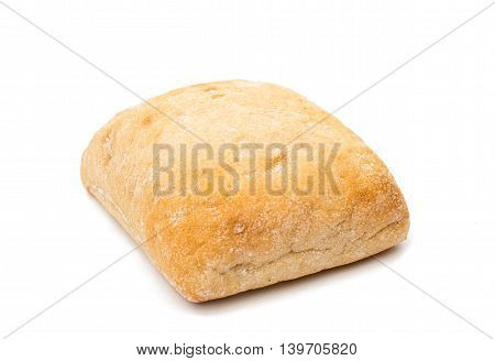 Ciabatta (Italian bread) isolated on a white background