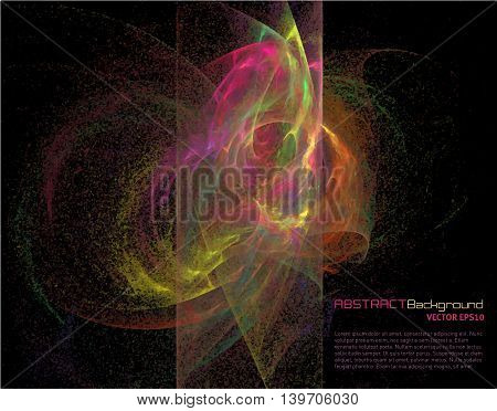 Abstract background with fractal form for business presentation. Vector illustration.