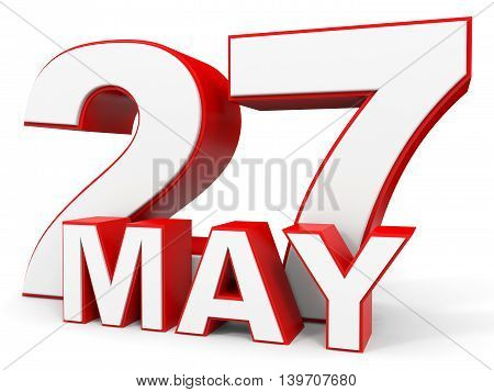 May 27. 3D Text On White Background.