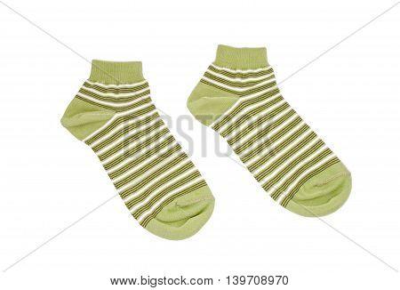 Striped Green Socks
