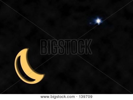 Christmas Star Crescent Moon
