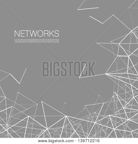Networks, Connections Concept - Black and White Network Mesh