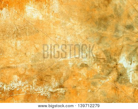 Yellow grunge background - abstract fall colors texture