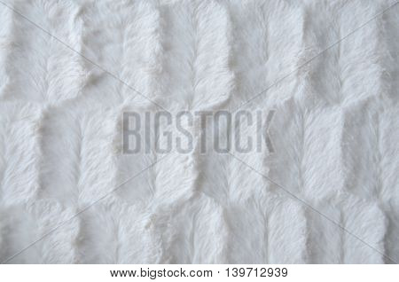 White fake fur textured, backgroud, close up.