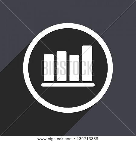 Flat design gray web graph vector icon