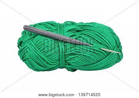 Skein Of Wool And Crochet Hook