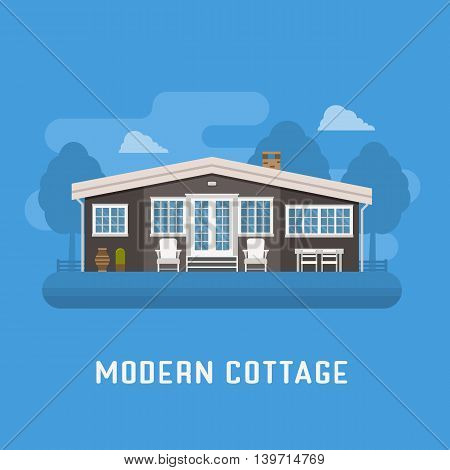 Modern Cottage Or Rural House