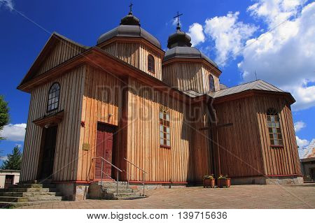 The historic parish church of Sts. Peter and Paul in Jurowce near Sanok (Poland, Podkarpackie Province), until 1946 the church of St. Nicholas. George. Orthodox church built in 1873, expanded in 1924 (chapel was built kołatorsk