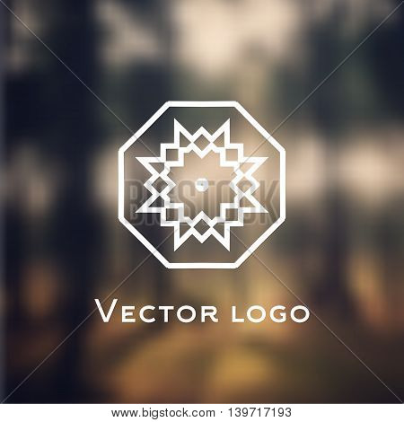 Vector abstract celtic style icon. Logo isolated on blurred background.