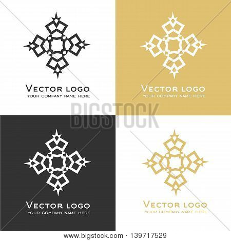 Set of vector abstract geometric logo. Sacred geometry icons. Identity design.