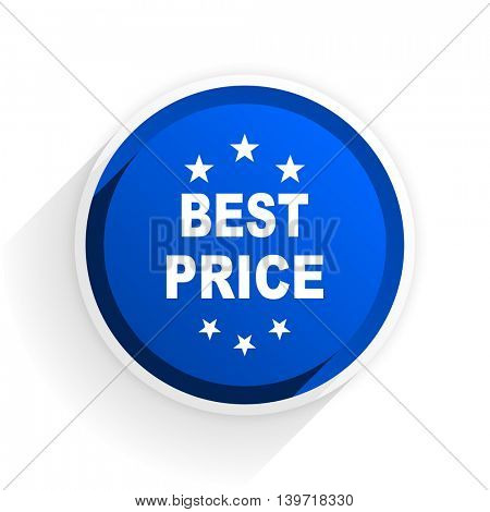 best price flat icon with shadow on white background, blue modern design web element