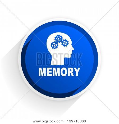 memory flat icon with shadow on white background, blue modern design web element