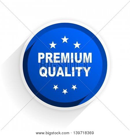 premium quality flat icon with shadow on white background, blue modern design web element