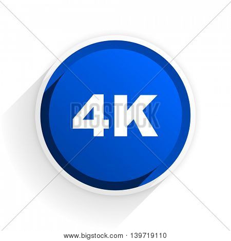 4k flat icon with shadow on white background, blue modern design web element