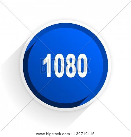 1080 flat icon with shadow on white background, blue modern design web element