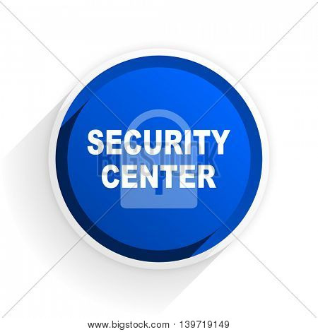 security center flat icon with shadow on white background, blue modern design web element
