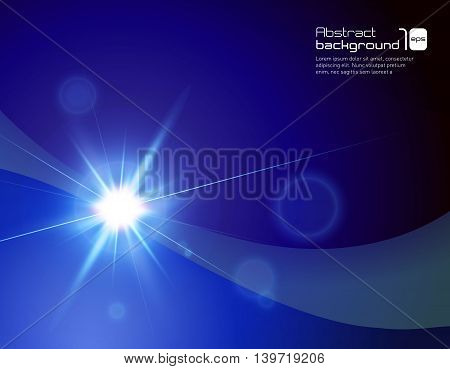 Vector illustration of abstract background with flare.